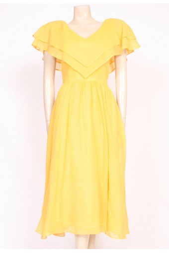 Frilled Yellow Sun Dress