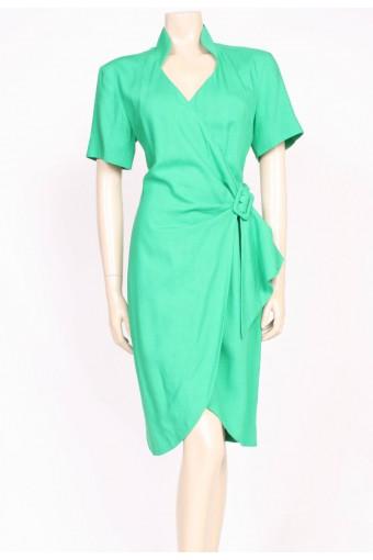 Green 80's Wrap Dress