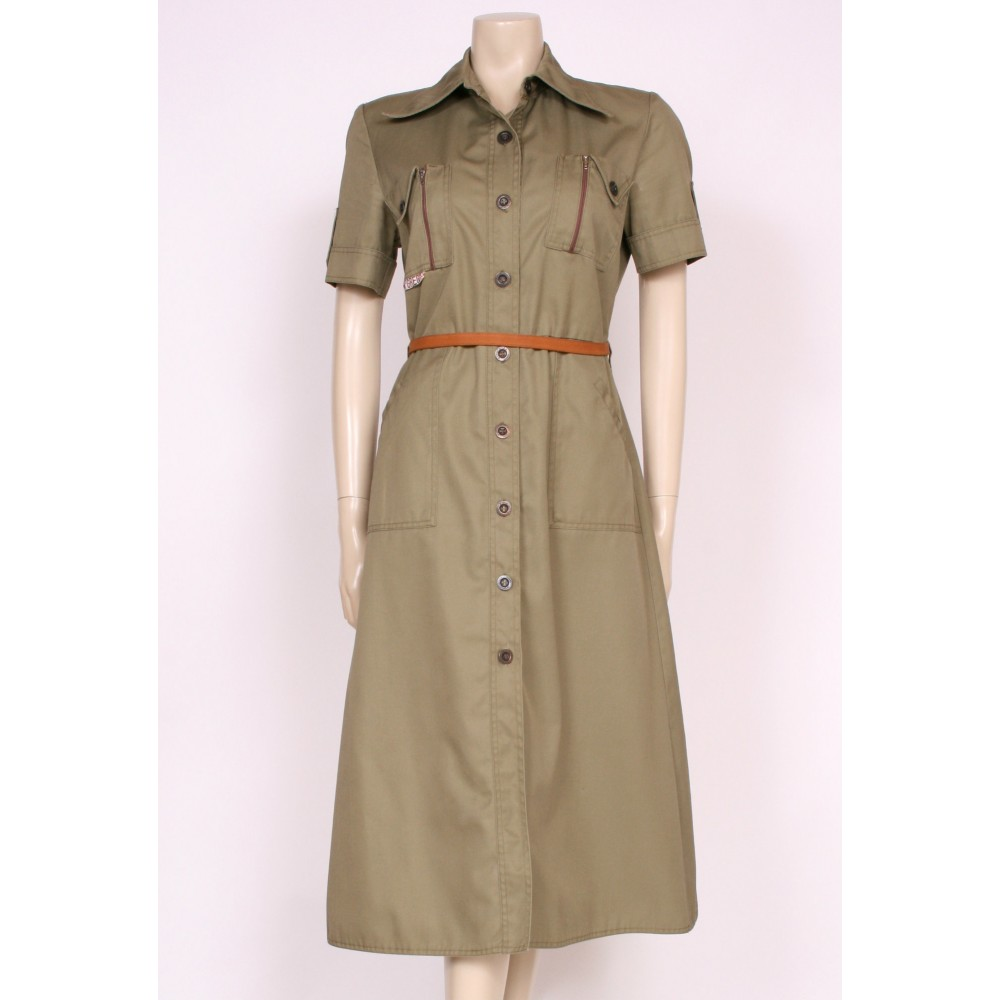 Army Green Safari Dress