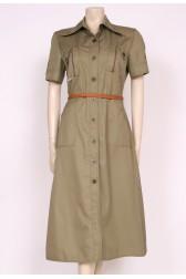 Army Green Safari Dress
