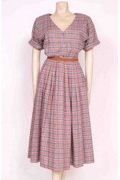 Plaid 80's Dress