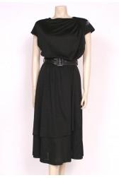 Sparkly Swallows Black Dress