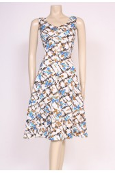 Rose Print Mod Dress