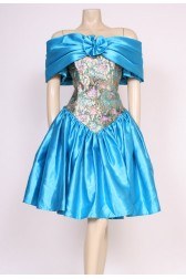 Gold Turquoise Party Dress