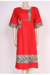 Floral & Red 70's Dress
