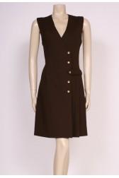 Brown Unused Mod Dress
