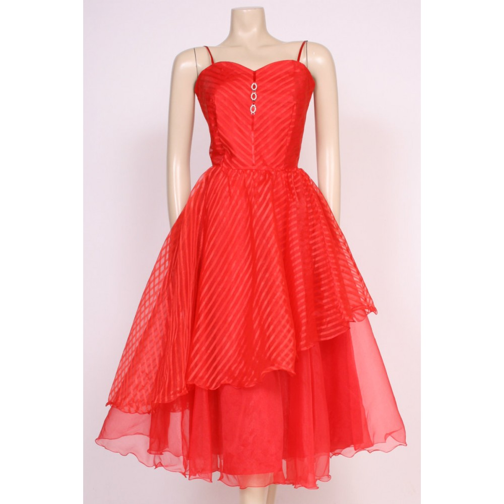 Red 80\'s Prom Dress