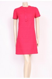Quilted Pink 60's Dress
