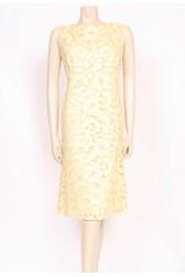 Lemon Guipure Shift Dress