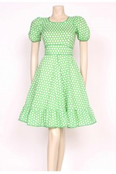 Green Polkadots Dress