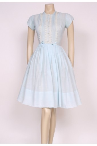 1950's Baby Blue Tea Dress