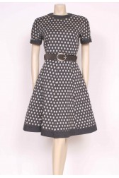 Spotty Grey Wool Dress