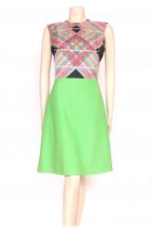 Technicolor Silk & Wool Dress