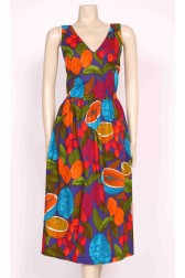 Backless Fruits Print Dress
