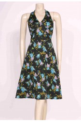 70's Black Halterneck Dress