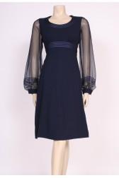 Sheer Sleeve 70's Dress