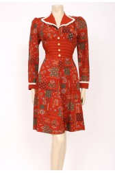 Rust Colour Day Dress