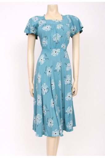 Duck Egg Blue 40's Dress