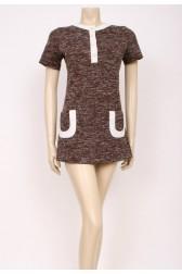 Short Pockets Mod Dress