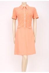 Peach Knit Mod Dress
