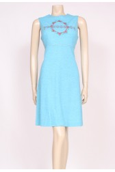 Turquoise Mod 60's Dress