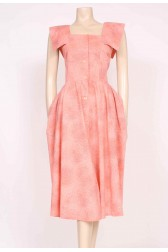 Peachy Pockets Sun Dress