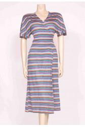 Stripes wrap Dress