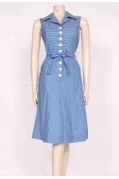 Blue Stripes Sun Dress