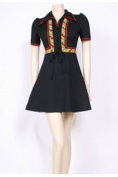 Lace-Up 70's Dress