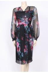 Pleated Painted Dress
