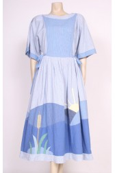 Applique Cotton Dress