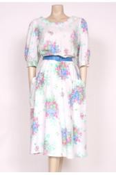 White Floral Sun Dress