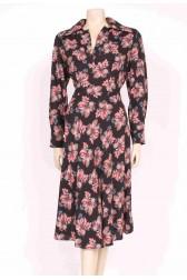 70's Chestnut Print Dress