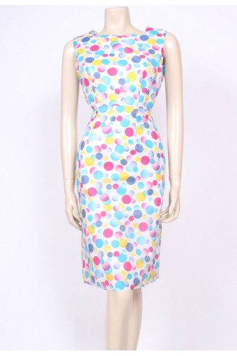 Bubbles Print Shift Dress