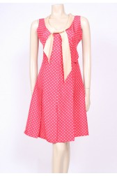 Silk 60's Red Spotty Dress