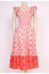 Frills Red Sun Dress