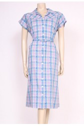 Lilac Checks 50's Dress