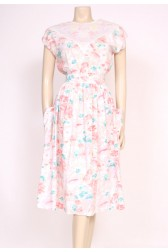 Pockets Pastel 80's Dress