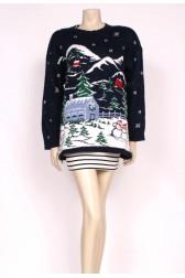Snow Scene Christmas Knit