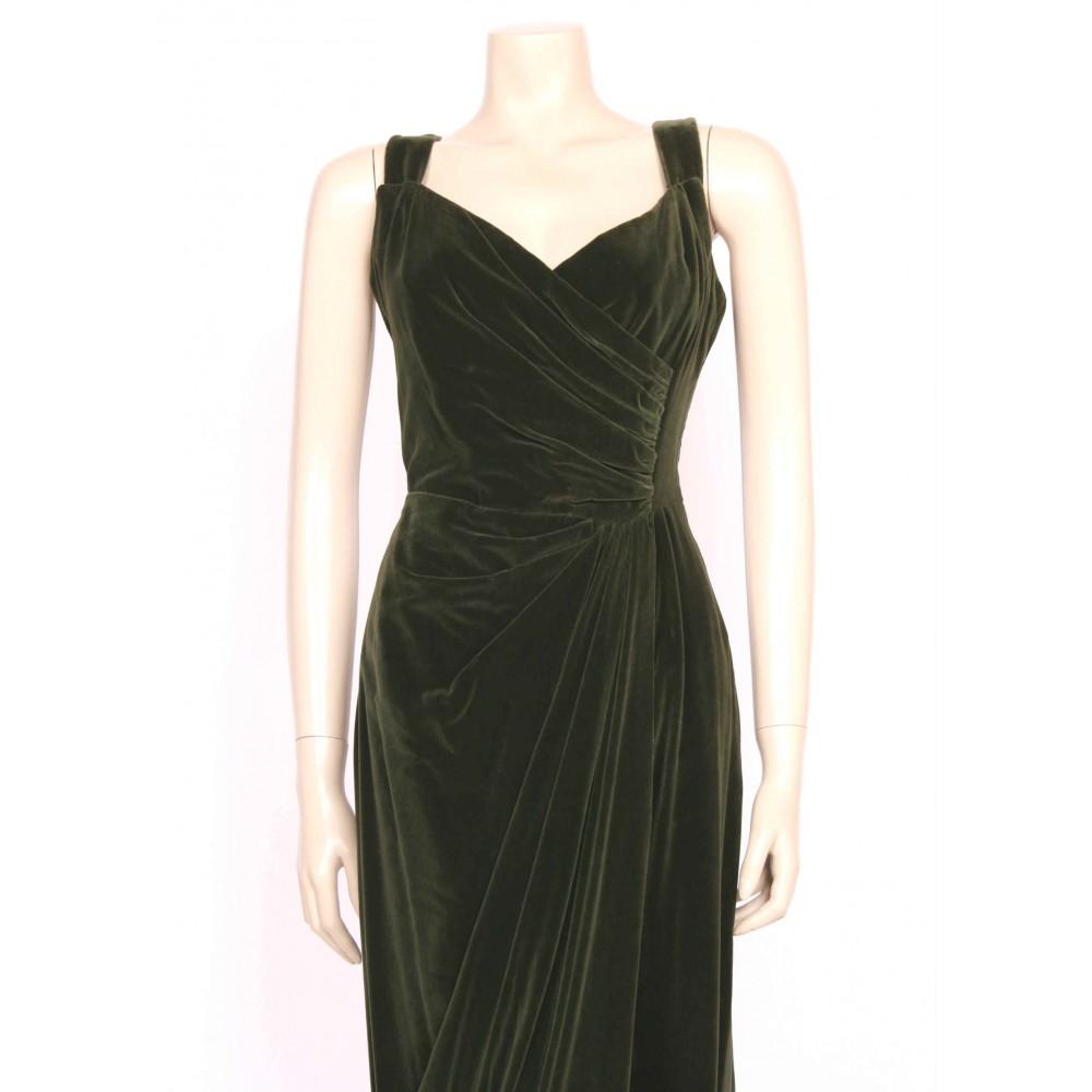Green Velvet 50 S Dress