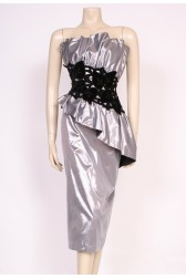 Silver Velvet Glamour Dress