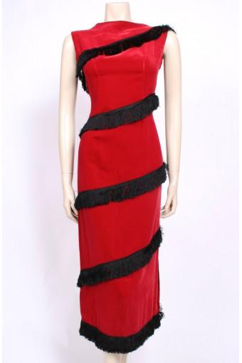 Early 60's Red Velvet Dress