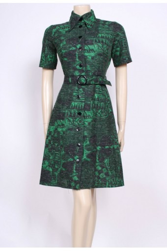 Gorgeous Green 70's Dress