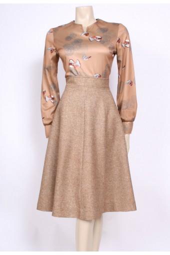 Duck Print 70's Dress