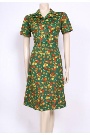 Green Leaf Mod Dress