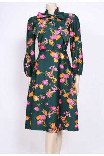 Deep Green Bow Dress