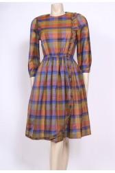 Checks Frills 70's Dress