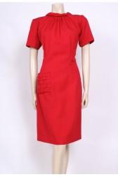 Red Pocket 60's Dress