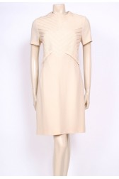 Ivory Wool Shift Dress
