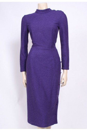 Purple Knit 80's Dress